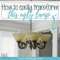 How to easily create au beautiful dining room pendant light with your existing light fixture and that will cost you almost nothing! DIY pendant light | DIYdining room light #diningroom #pendantlight #diy #homedecor #lighting