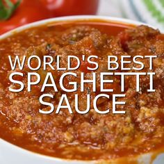 This homemade spaghetti sauce is such an easy recipe. Nothing beats from scratch cooking that can easily be converted to the Crockpot or Instant Pot to suit your plans for the day. Ground beef, hot italian sausage, vegetables, and let's not forget – parme Best Spaghetti Sauce, Spaghetti Recipes, Pasta Recipes, Dinner Recipes, Spaghetti Squash, Easy Homemade Spaghetti Sauce, Pioneer Woman Spaghetti Sauce, Courge Spaghetti, Spaghetti Sauce Recipe With Italian Sausage