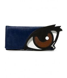 Farfetch - Appliqué eye clutch