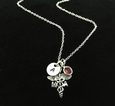 Medical Assistant MA Necklace Inatial Ma Necklace by sonudesigns