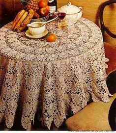 Home Decor Crochet Patterns Part 8 - Beautiful Crochet Patterns and Knitting Patterns Crochet Table Topper, Crochet Tablecloth Pattern, Crochet Potholders, Crochet Doilies, Mantel Redondo A Crochet, Baby Knitting Patterns, Crochet Patterns, Fillet Crochet, Crochet Home Decor