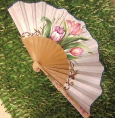 Pretty Hands, Beautiful Hands, Hand Held Fan, Hand Fans, Fan Decoration, Vintage Fans, Hot Flashes, Learn To Paint, Exotic