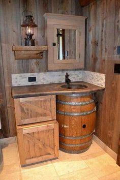 Country bathroom #CountryBathrooms
