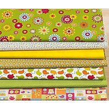 Lot de 7 coupons patchwork 'Happy pique-nique',