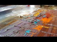 """Démonstration de peinture abstraite (3) Elisabeth - Toile """"Synchronicité"""" - YouTube"""