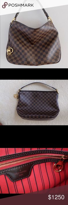 8f9b9b159c45 Authentic Louis Vuitton Delightful Damier Ebene PM 💯 % Authentic. In like  new condition except