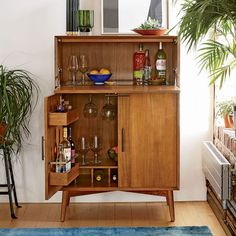 Mid-Century Bar Cabinet - Large | west elm