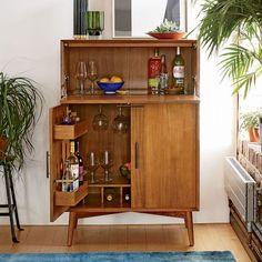 Mid-Century Bar Cabinet - Large | west elm