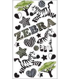 EK Success Sparkler Classic Stickers - Zebra Stripes $3.49 Zebra Party, Ek Success, Sparklers, Stripes, Scrapbook, Stickers, Classic, Home Decor, Derby