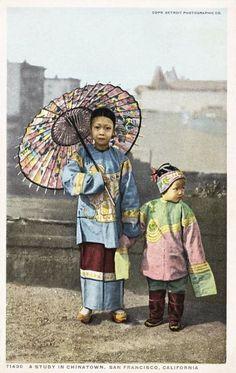 A Study in Chinatown, San Francisco. Postcard circa 1915-25.