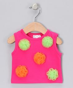 Take a look at this Fuchsia Rosette Tank - Infant, Toddler & Girls by Yuli n' Grace Couture on #zulily today#zulily #fall