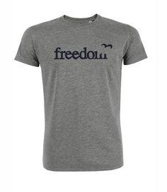 heren-shirt/duurzaam Tshirt Freedom - Bamboe sokken en ondergoed