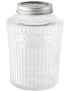 glass jars - Storage & Organization / Kitchen & Dining: Home & Kitchen Mason Jar Kitchen, Kitchen Canisters, Mason Jars, Retro Kitchen Accessories, Cleaning Materials, Spice Jars, Kitchen Organization, Food Storage, Glass Jars
