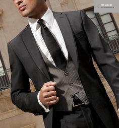 Grey tones and slim fit, yum ! X
