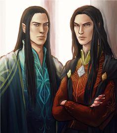 Fëanor and Fingolfin. Niyochara http://niyochara.tumblr.com/post/87111039898/feanor-fingolfin-cc-hweanaro-sorry-if-it-too