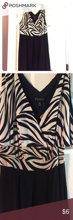 NEW Zebra Print Dress. Sz 16W. NEW Zebra Print Dress. Sz 16W. Enfocus Women Dresses