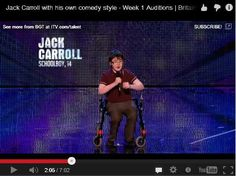 Cerebral Palsy Is Hilarious, According to This 14-Year-Old Comedian (VIDEO)   - Pinned by @PediaStaff – Please Visit  ht.ly/63sNt for all our pediatric therapy pins