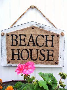 BEACH HOUSE style Cottage minable signe de par SophiasSignBoutique