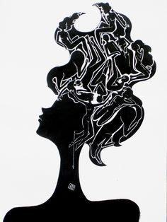 Psycological portrait, ink on paper  http://www.italiaworldwide.com/arts/en/psycological-portrait-zanocchio.html
