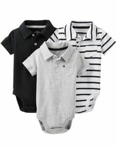 Carters Boys Baby 3-pk. Nautical Polo Bodysuit Set