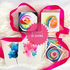 It has been an epic year of countless blessings! So I wanted to do something special this year to give back! I am announcing 4 days of giving! Starting now through Monday the 28th on my site! (No code necessary) with $100 purchase receive a FREE surprise print of my choosing! with $200 purchase receive a FREE surprise original watercolor of my choosing! with $500 purchase receive a FREE surprise 6 x 6 original oil painting of my choosing!  Happy shopping from the comfort of your own home!