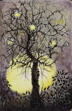 Fruits of Light by molossus, who says Life Imitates Doodles, via Flickr aka Sandra Strait