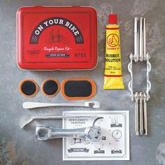 bicycle tool and puncture repair kit by lilac coast | notonthehighstreet.com