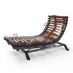 Swissflex Uni 22 Bridge lattenbodem Barcelona Chair, Outdoor Furniture, Outdoor Decor, Sun Lounger, Uni, Bridge, Design, Home Decor, House