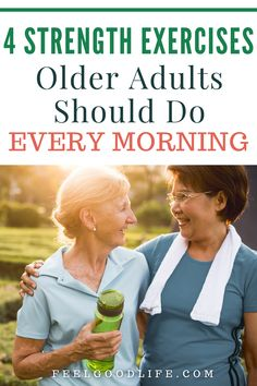 Strength Training Exercises At Home For Older Adults | Feel Good Life