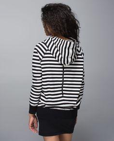 Lululemon Rollin' With My Omies Hoodie - Apex Stripe Black Heathered Angel White / Tonka Stripe Heathered Black Mojave Tan / Black