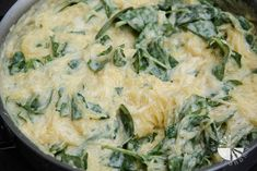 baked spaghetti squash with spinach