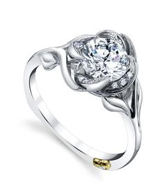 Rosebud Contemporary Engagement Ring