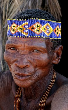 South Africa:  There are 100,000 Bushmen in Botswana, Namibia, South Africa and Angola. They are the indigenous people of southern Africa, and have lived there for tens of thousands of years.  ** Beautiful face.