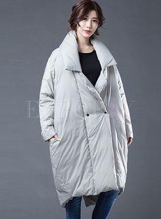 1 new message Oversized Puffer Coat, Long Puffer Coat, Bat Sleeve, Hip Bones, Down Coat, Mock Neck, Hoods, Fashion Online, Raincoat