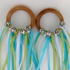 Fairy or gypsy dancing rings----bells, ribbon, shower rings or bracelets...super easy, super cute