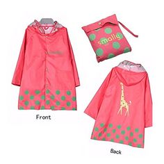 Vkenis Waterproof Cartoon Children's Raincoat for Kids Aged 4-12 (S, Pink) * LEARN ADDITIONAL DETAILS @: http://www.best-outdoorgear.com/vkenis-waterproof-cartoon-childrens-raincoat-for-kids-aged-4-12-s-pink/