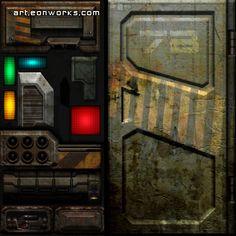 3d texture door