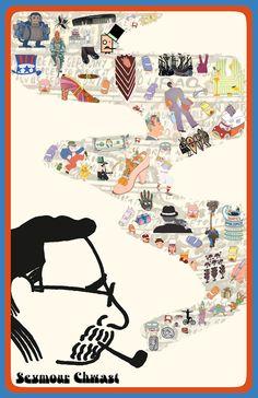 Seymour Chwast Poster by Aniela Maria Drozdowska © 2012 Seymour Chwast, Robert Crumb, Typography Prints, Posters, Magic, History, Illustration, Photos, Art