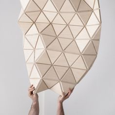 WoodSkin aims to bridge the gap between virtual design and real construction Flexible Plywood, Folding Stool, Wood Surface, Table Lamp, Design Inspiration, Mesh, Home Decor, Thesis, Product Design