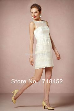 2013 Short Wedding Dress Corset See Through Lace Decoration Strapless Free Shipping DV069