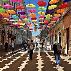 Timisoara, Romania | Umbrella Street