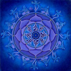 Auspicious Blue Lotus 8 folded (lovely/lovable... perfect gift on 3/3)