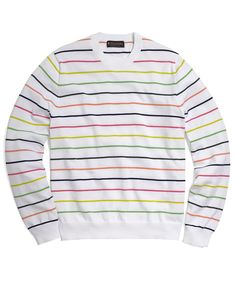 Brooks Brothers - Supima Rainbow Stripe Crewneck Sweater.  I bought a shirt from lacoste today that looks similar