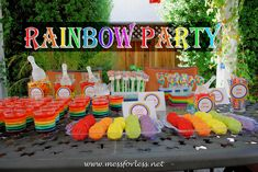 4 year old birthday party ideas girls | rainbow party ideas, rainbow birthday #rainbow #birthday
