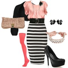 How I love this!!!! Pink and stripes, doesnt get any better unless you add flowers or ruffles!