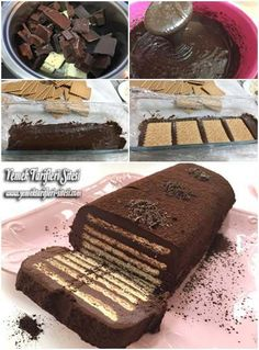Bisküvili Soğuk Pasta Tarifi. No-Bake Biscuit Cake Recipe. The chocolate you cook separately, but the finished cake does not require baking.