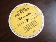 Vintage-St-Louis-Post-Dispatch-Post-Dispatch-Dist-O-Meter-Advertising-Paper