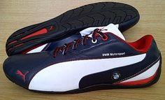 Kode Sepatu: Puma BMW Motorsport Navy White Ukuran Sepatu: 41 , 42.5 , 43 , 44  Harga: Rp. 710.000,-  Untuk pemesanan hub 0831-6794-8611 Puma Original, Cleats, The Originals, Sneakers, Sports, Football Boots, Tennis, Hs Sports, Slippers