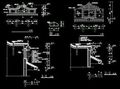 Stable dairy cows farm free dwg floor plan and layout of housing