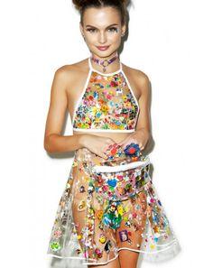 Indyanna Polly PVC Pleated Skirt With Fanny Pack | Dolls Kill